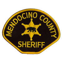 mendocino sheriff's cloth badge