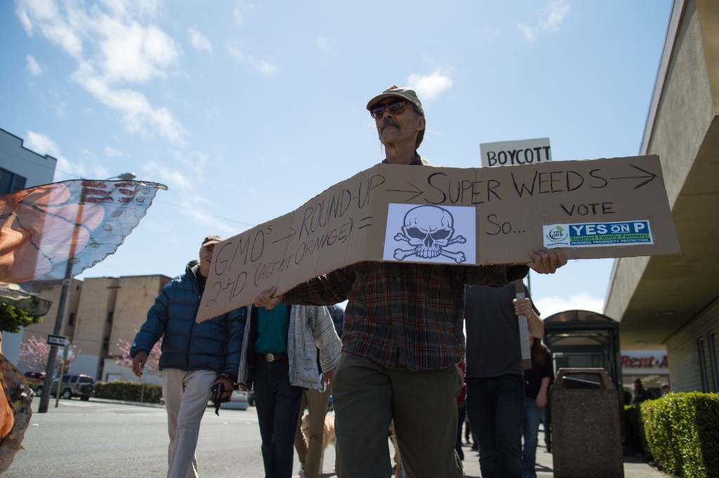 """George Stevens, a 63-year-old farmer, says he came to the march """"'cause my livelihood is at stake."""""""