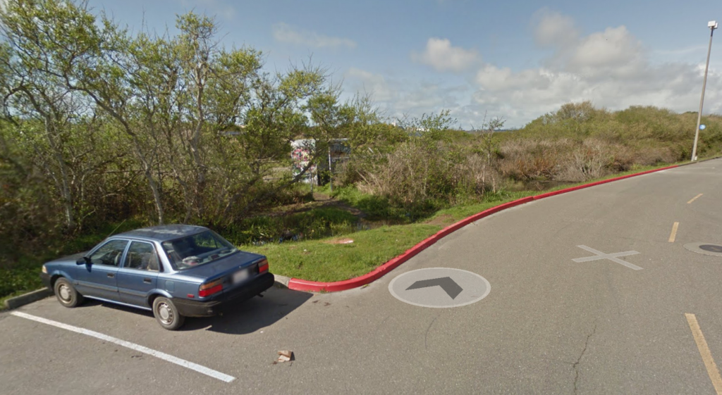 Screenshot from Google Maps of the area where the man was placed in an ambulance.