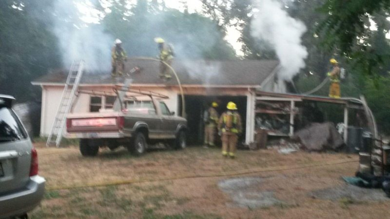 Car Catches Garage On Fire In Rochester: Two Car Garage Caught Fire In Redway This Morning