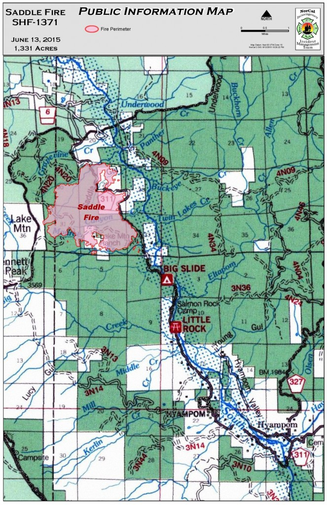 Most recent map of the fire from June 13.