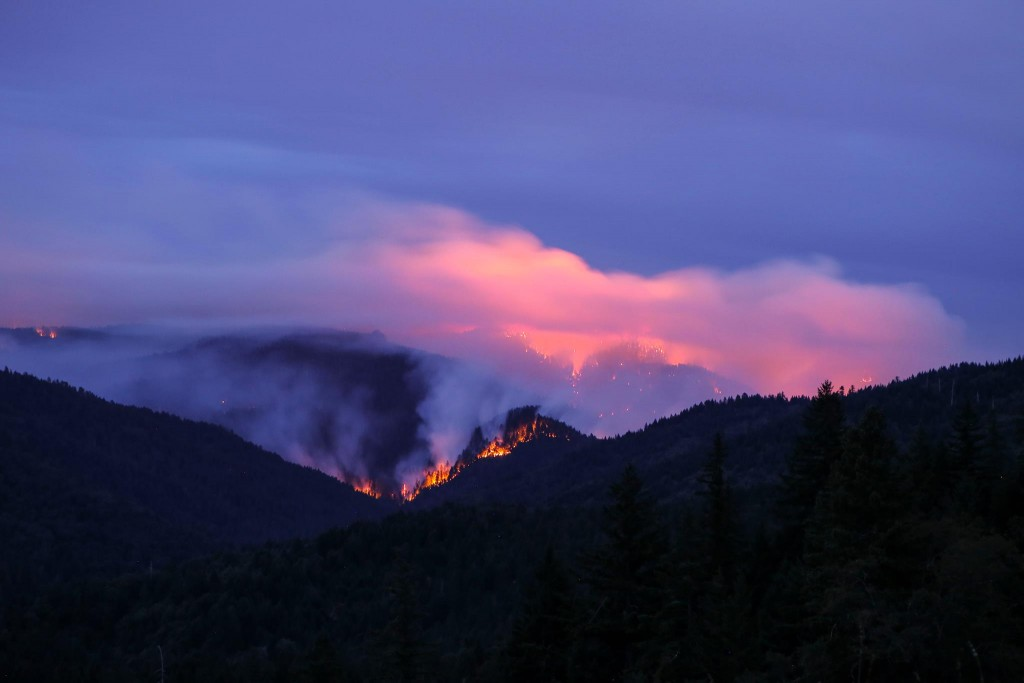 Lassic Fire as seen from Blocksburg area. [Photo by Christina Lombardi]