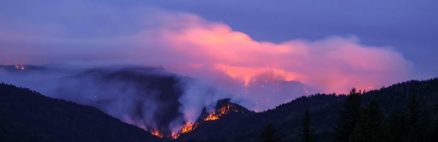 Lassic Fire as seen from Blocksburg area.