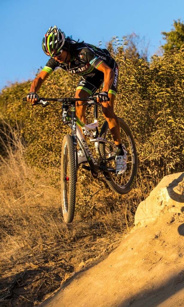 Team Sho-Air/Cannondale's Tinker Juarez at Irvine Regional Park in Irvine, California on November 12 2012.