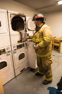 Capt Padula inspects dryer