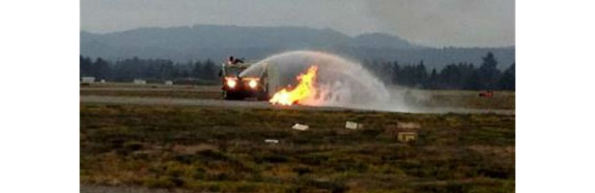 2015 airport drill. [Photo from the Humboldt County Airport]