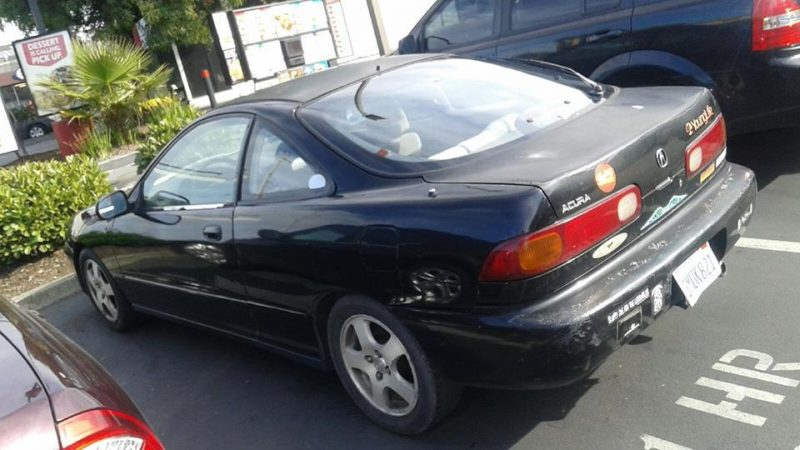 Blotchy Acura Integra Stolen Keep A Lookout Will You Redheaded Blackbelt