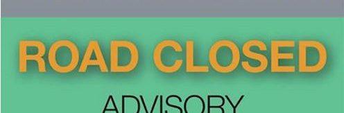 Road Closed Caltrans sign