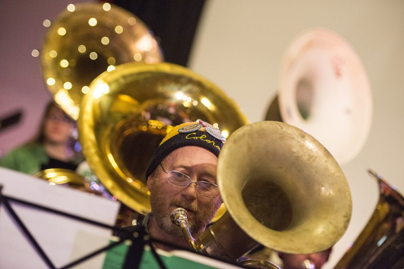 Doug Hendricks of Arcata was participating in his 5th Tuba Christmas this year.