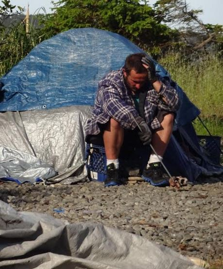 Homeless man facing eviction from his camp