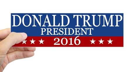 Donald Trump for President bumper sticker