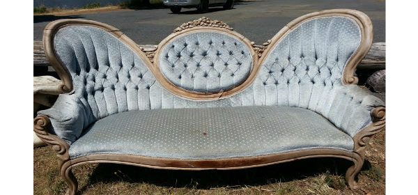 Silver couch fancy