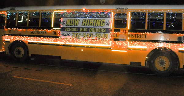 School Bus in Lights hiring