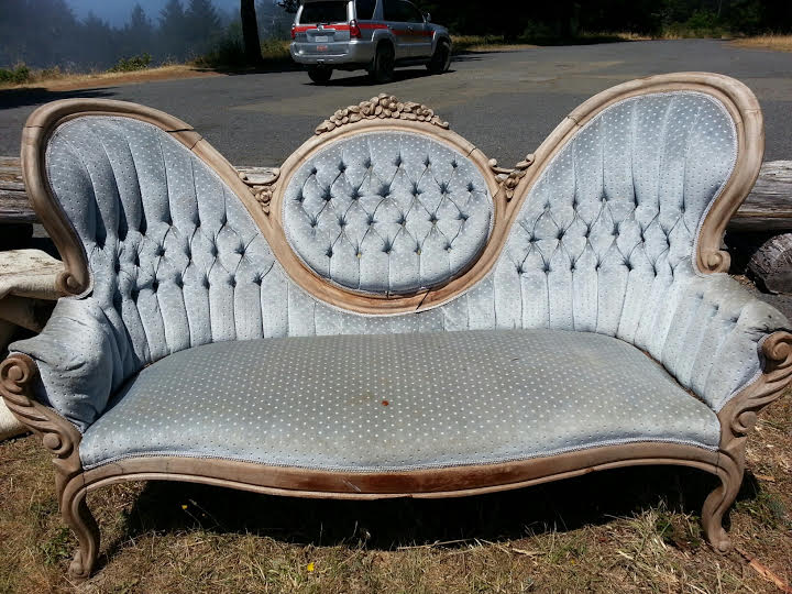Fancy silver couch
