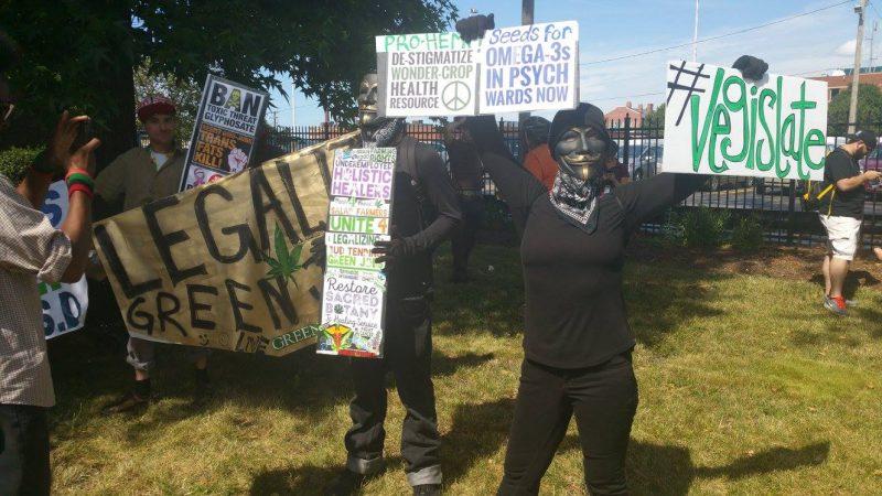 Protestors at July 17, 2016 RNC