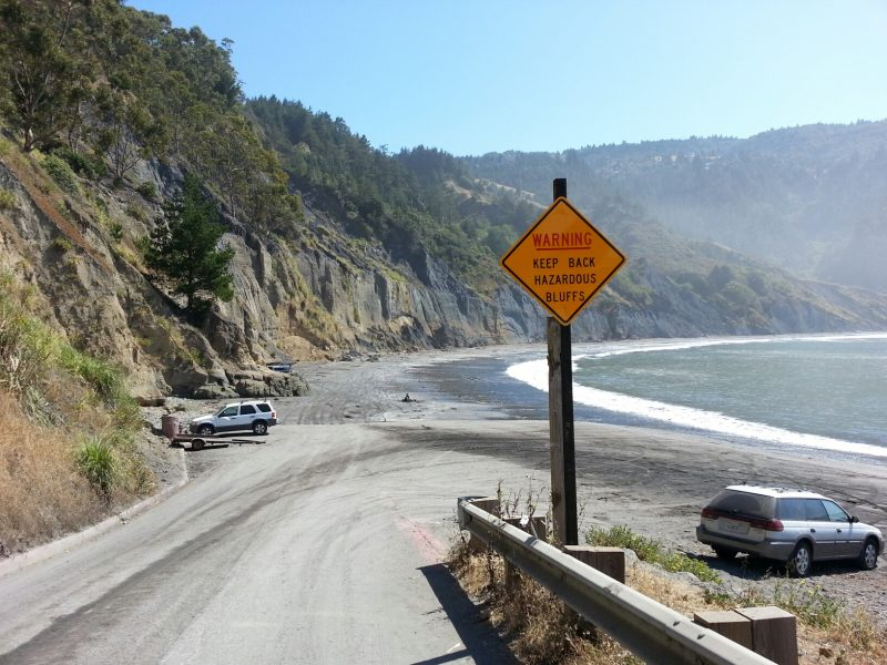 Warning Sign at Shelter Cove