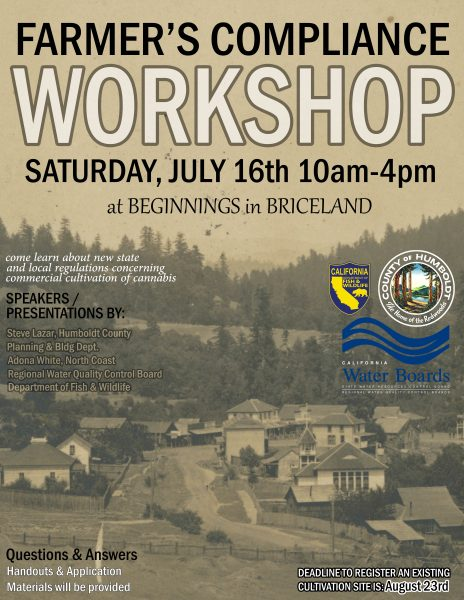 Briceland Farmer's Compliance Workshop flyer