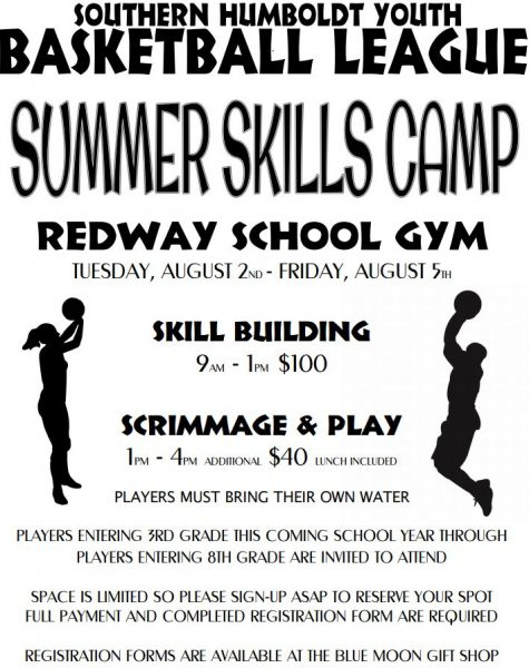 camp flyer Redway Basketball