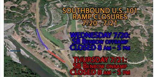 Benbow ramp closure map