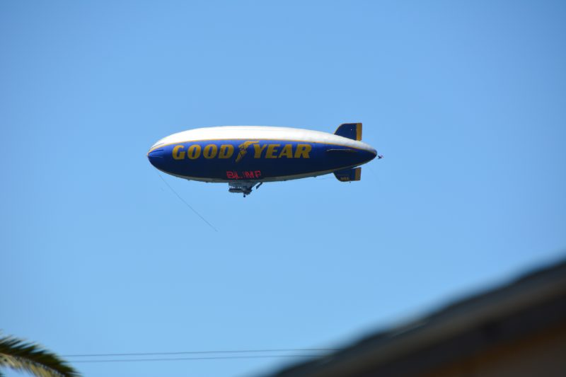 Goodyear Blimp over Eureka