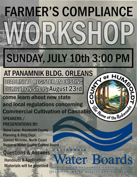 Marijuana farmers compliance workshop