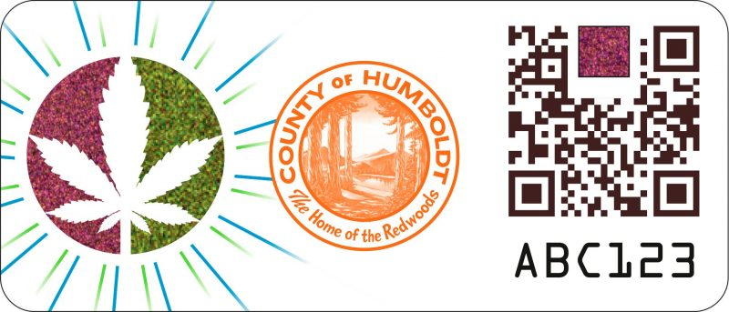 Humboldt County's Trace and Track Program stamp