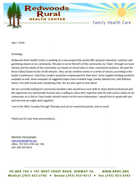 Redheaded Blackbelt version of Letter for Potential After School Program Facilitators