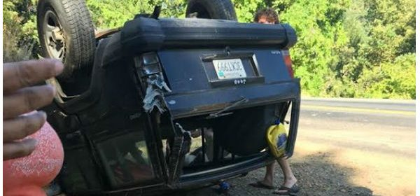 Overturned Jeep 7/27/2016