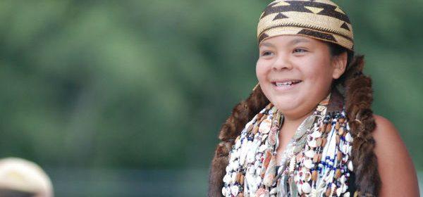 Yurok girl in regalia [Photo from Yurok Tribe]