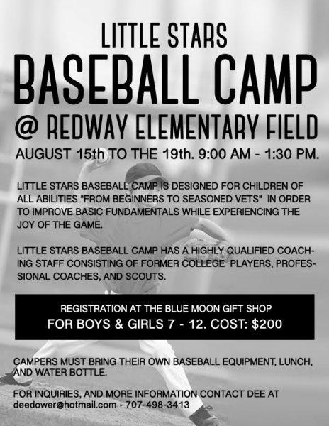 baseball camp Southern Humboldt 2016