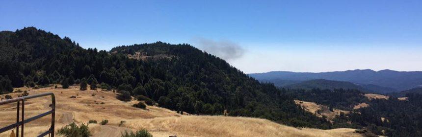 Fire in Blue Slide as seen from Salmon Creek