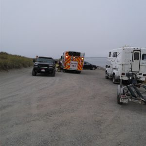 emergency vehicles South Jetty