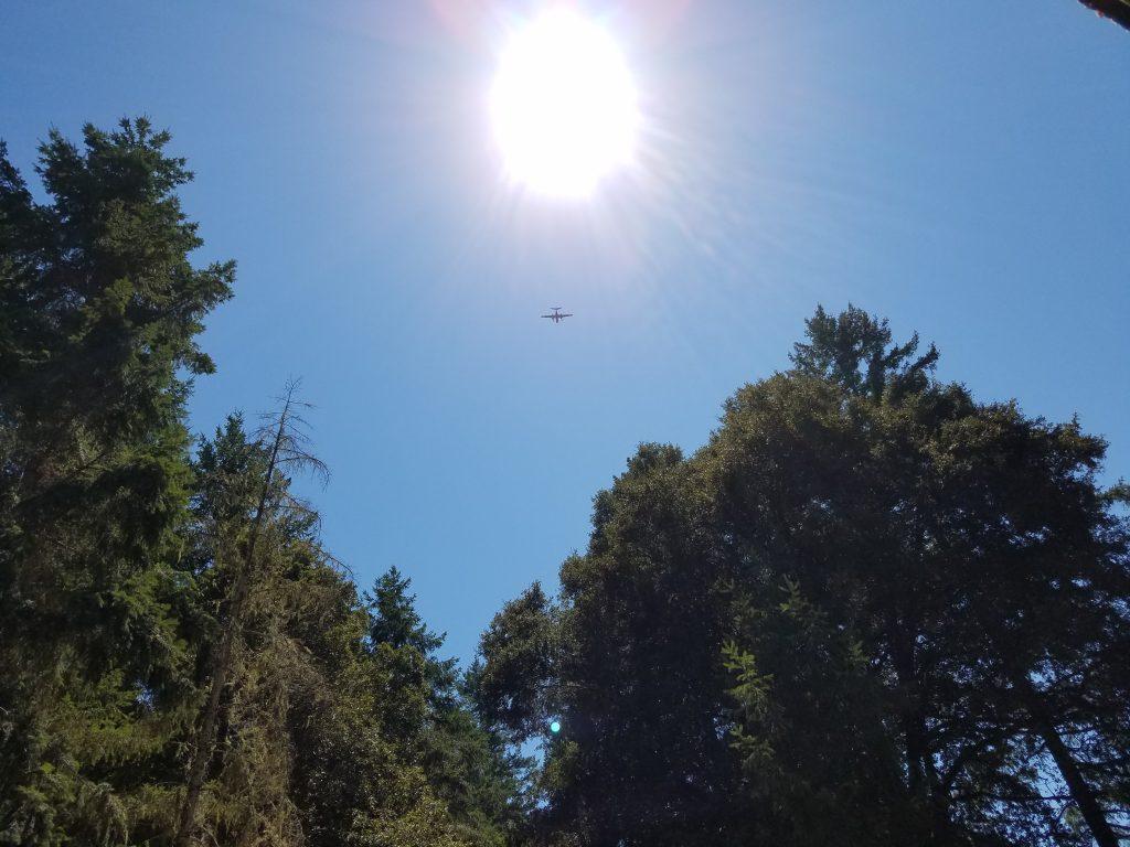 Plane circling fire