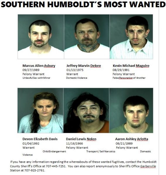 Southern Humboldt's Most Wanted