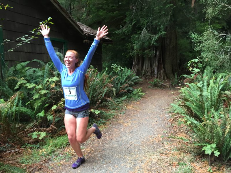 Running in the redwoods