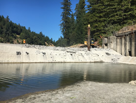 Benbow dam removal Photo from NOAA