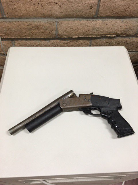 EUREKA PD photo of a gun confiscated from a juvenile.