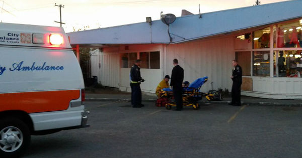 EMS examine victim in Eureka