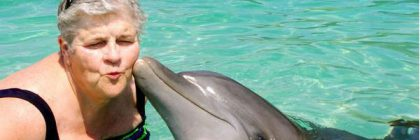 Kathy and dolphin