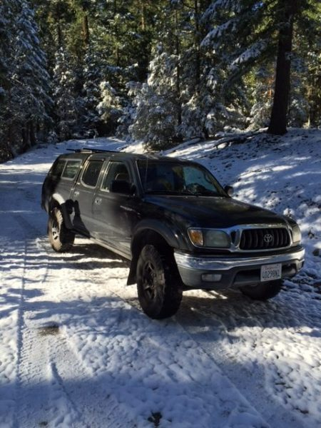 Toyota Tacoma in the snow