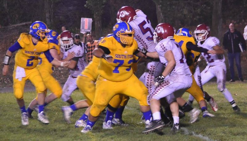 JOseph Peralta, #73 had his best game of the season [Photo by Janice Coffelt]