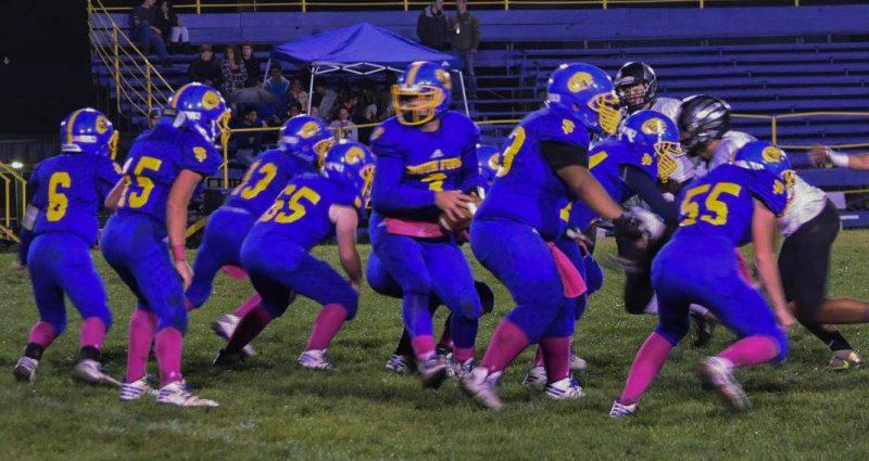 Junior Scott Coffelt played quarterback Friday night [Photo by Janice Coffelt]