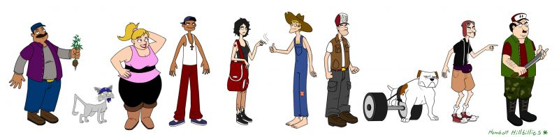 The Humboldt Hillbillies character sketches