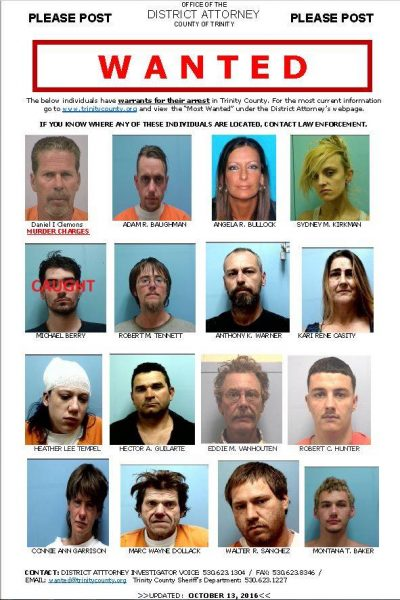 Trinity County Most Wanted
