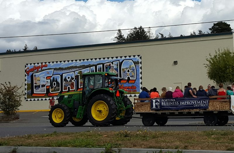 Small town parade Fortuna by Dennis Finley