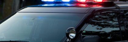 Emergency vehicle. Cop car light bar