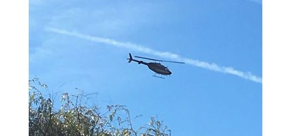 Helicopter checking power lines. photo by a reader
