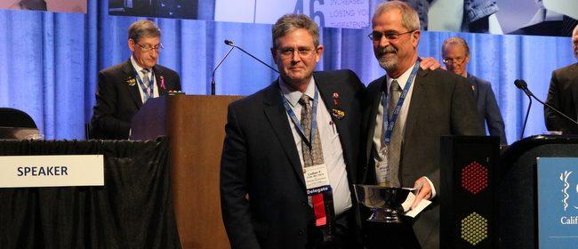 California Medical Assoc. Plessner award Dr. Bill Hunter