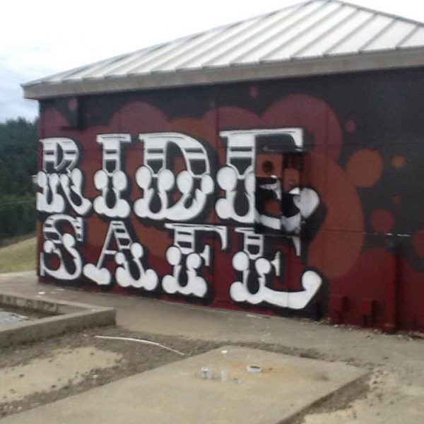 Ride safe mural