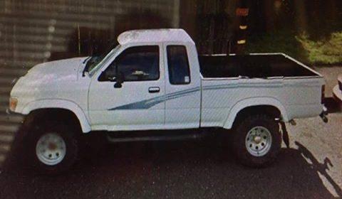 white 1993 toyota pickup